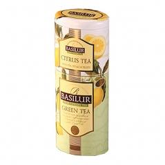 Чай Basilur Зелёный чай (75 г) + Цитрусовый чай (50 г)